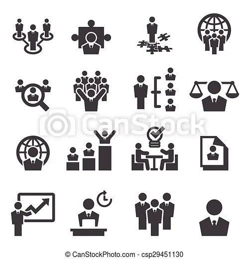 Human resources and management icons.
