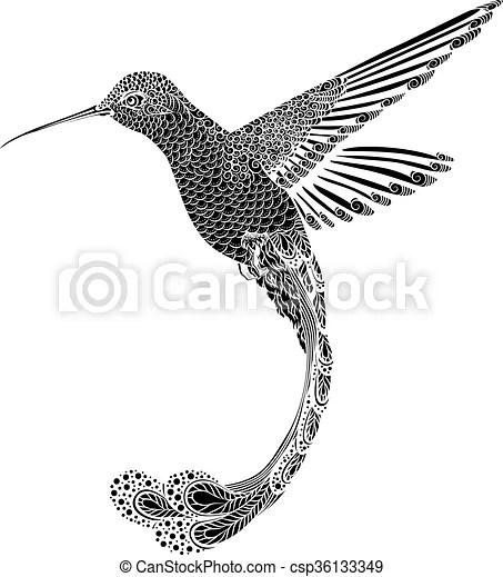 Hummingbird Tattoo Drawing