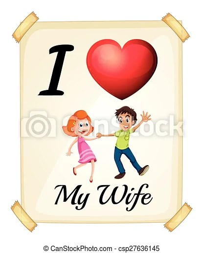 Download I love my wife. I love my wife banner.