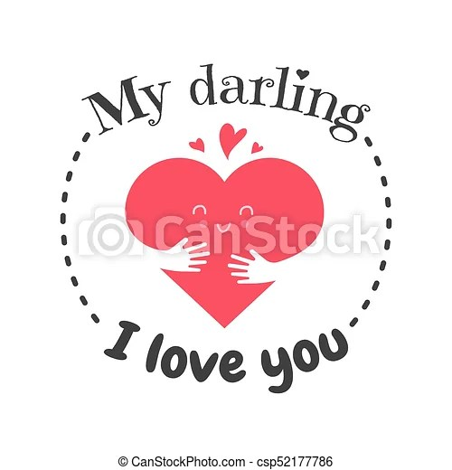 Download I love you funny face heart. greetin cart, banner or ...