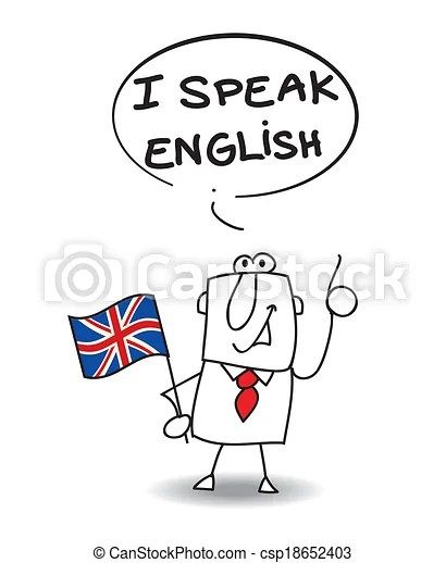 I speak english. This businessman speak english.
