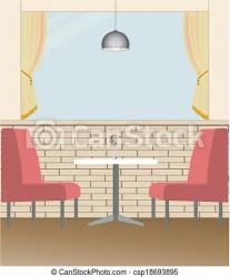 In the restaurant The vector of restaurant interior design CanStock
