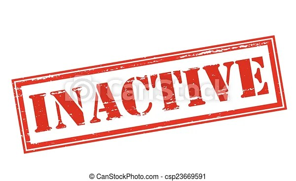 Inactive. Rubber stamp with word inactive inside, vector illustration.