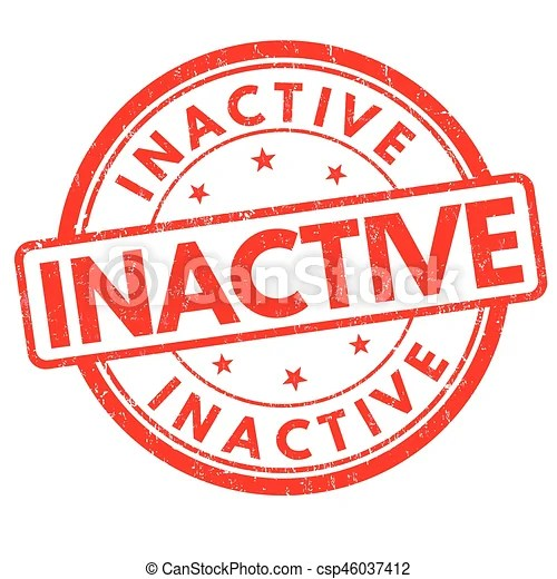 Inactive sign or stamp. Inactive grunge rubber stamp on white background, vector illustration.