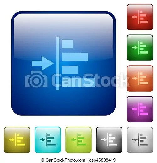 Increase left indentation of content color square buttons. Increase left indentation of content icons in rounded square color glossy button set.