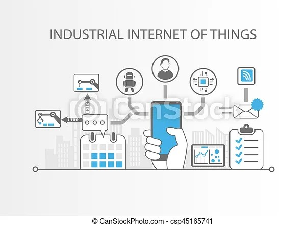 Industrial internet of things or industry 4.0 concept with