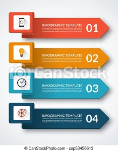 Infographic banner with arrows can be used for workflow layout diagram chart also rh canstockphoto