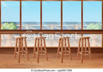 inside restaurant bar stools clipart clip drawing vector illustration