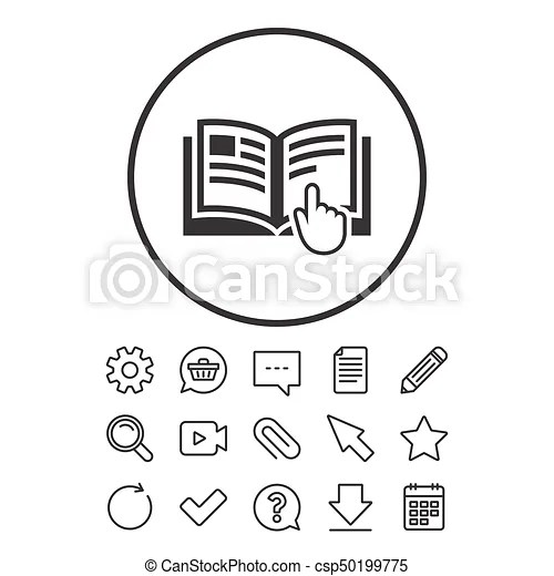 Instruction sign icon. manual book symbol. read before use