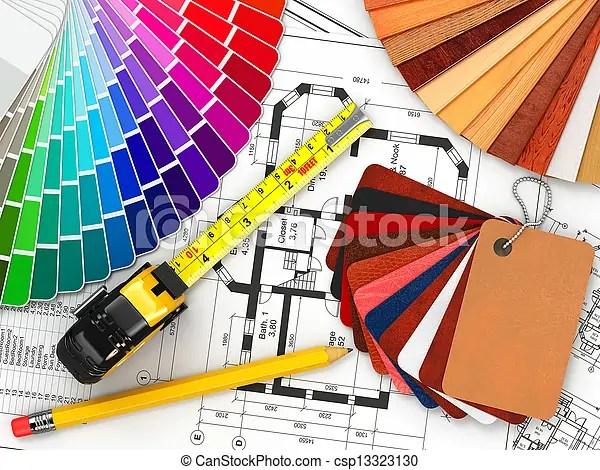 Interior Design Architectural Materials Tools And Stock Photos