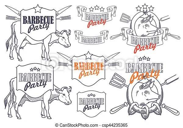 Stock illustration. invitation template for barbecue party.