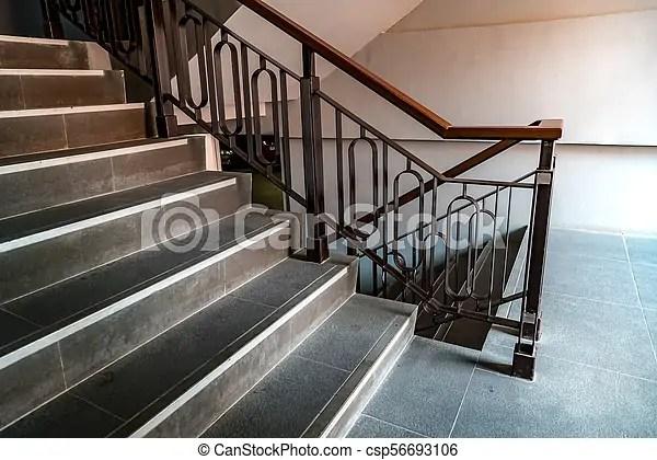 Iron Railing With Black Stair Black Iron Railing With Part Of   Black Metal Railing For Stairs   Rail   Double Basket   Kid Safe   Residential   Modern