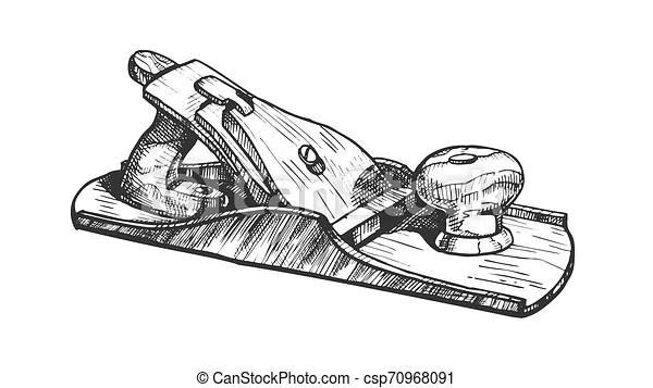 Jack-plane hand industry instrument closeup vector. jack