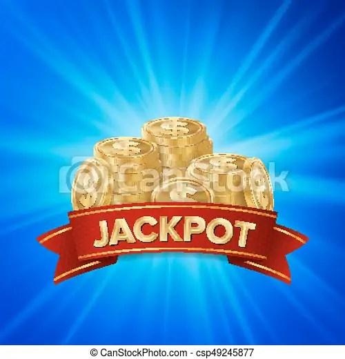 jackpot background vector golden