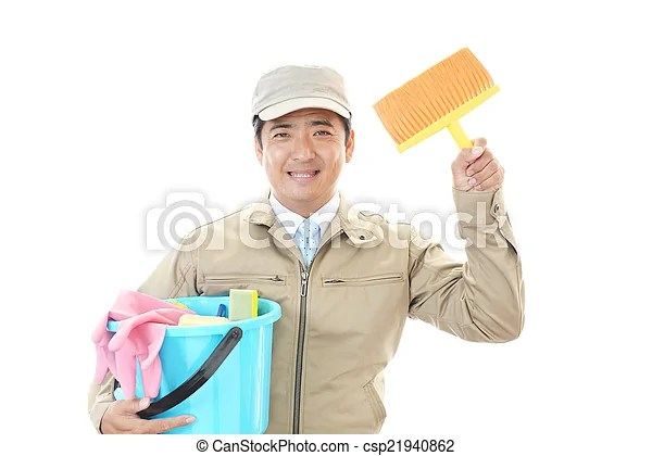 Janitorial cleaning service.