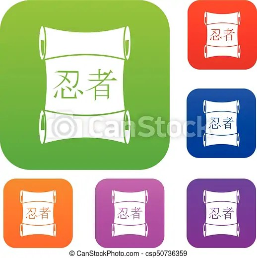 japanese traditional scrol set