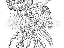 Mandala Jellyfish Coloring Page