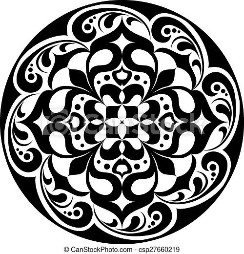 kaleidoscopic floral tatoo mandala