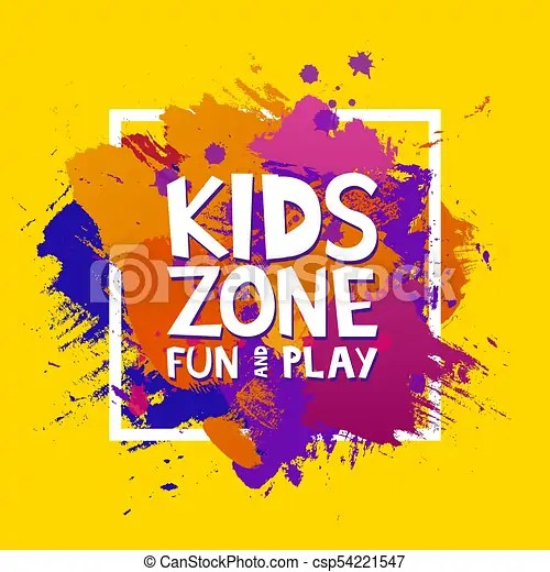 kids zone colorful banner