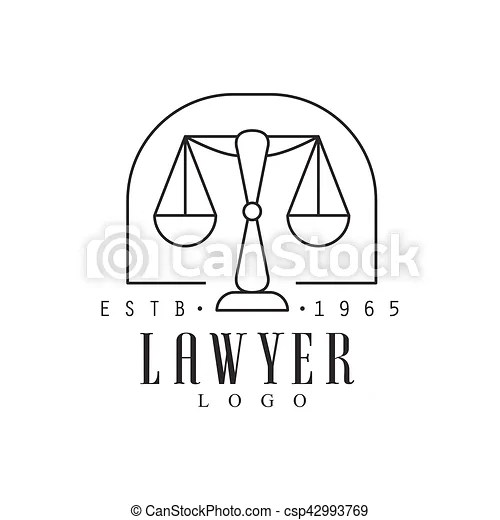 Law firm and lawyer office black and white logo template