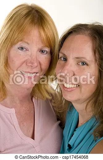 Lesbian Couple Cuddling Csp17454068