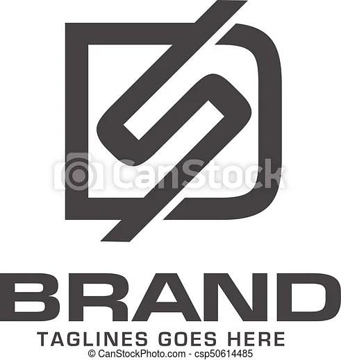 letter ds logo design