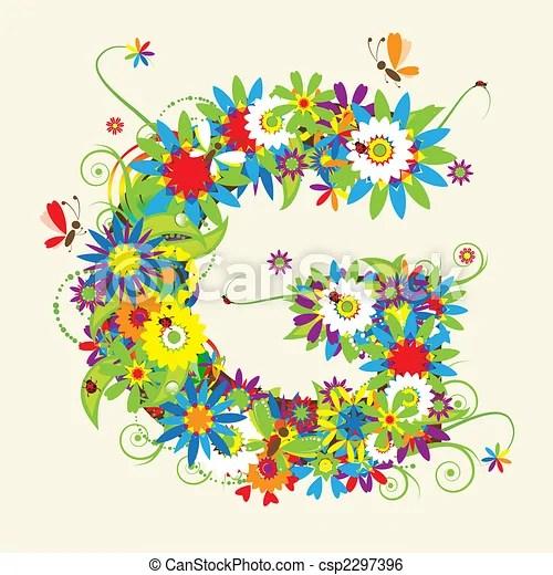 letter g floral design