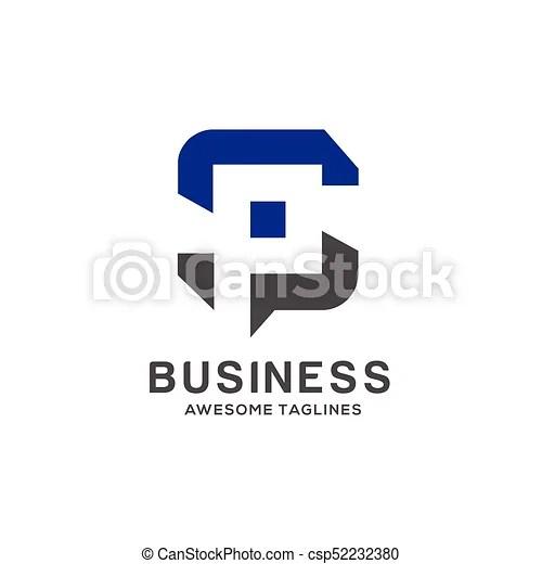 letter sp logo vector