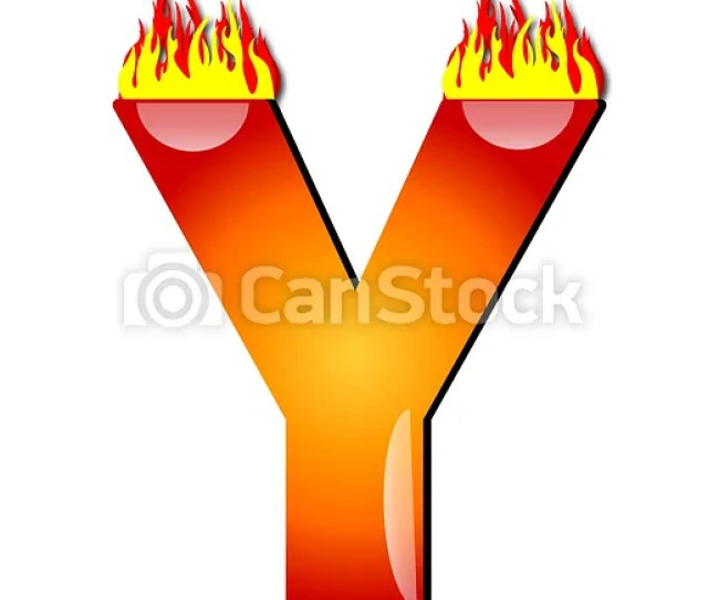 Letter Y On Fire
