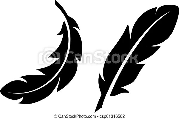 light feather vector icon