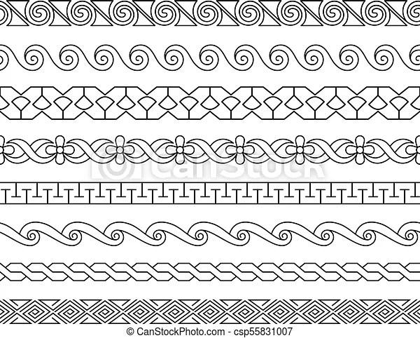 linear lacework borders set