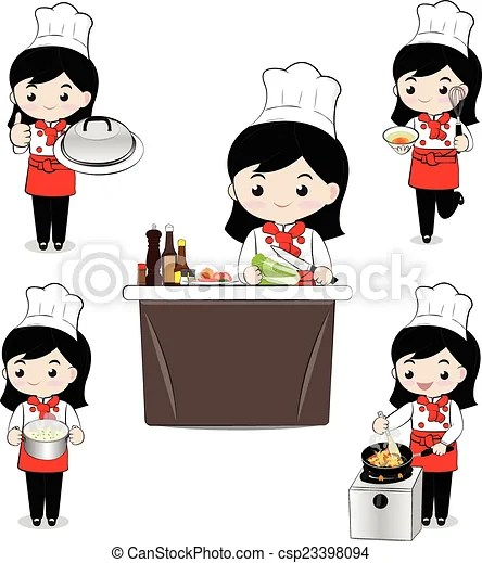 little girl chef