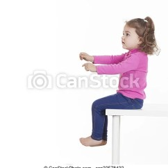 Little Girl Chairs Build An Adirondack Chair Sitting On Against Of White Background Sideview Csp32578432