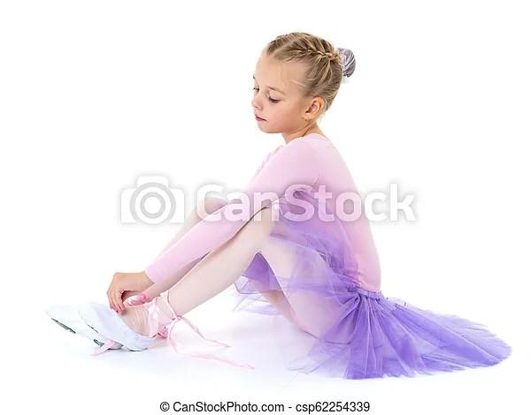 little girl wears ballet