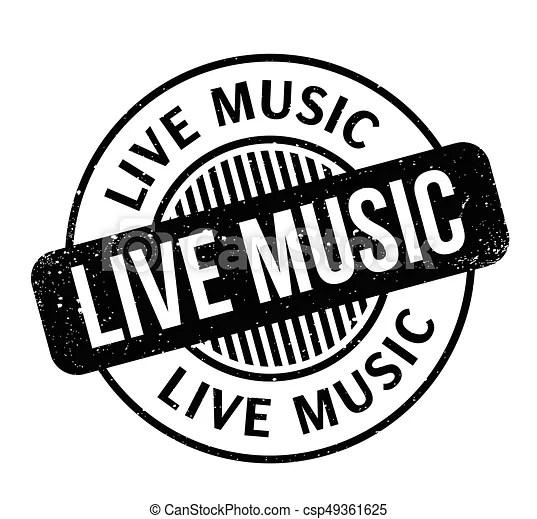 live music rubber stamp. grunge