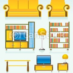 Living Room Pictures Clipart Small Design Without Sofa Objects Furniture And Equipment Csp5557835