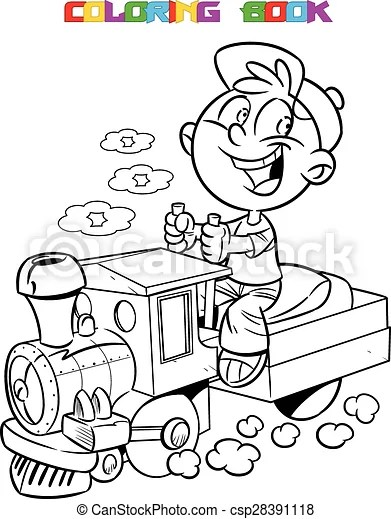 The illustration shows a boy who plays in engineer a toy