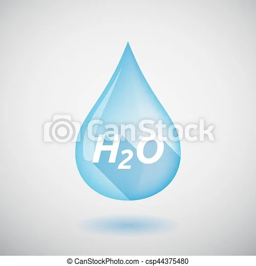 Pure h2o dba as rainsoft is an american made and manufactured company. Long Shadow Water Drop With The Text H2o Illustration Of A Long Shadow Water Drop With The Text H2o Canstock