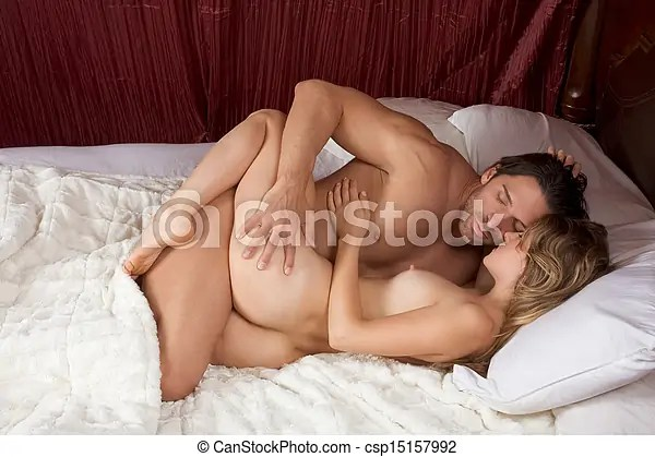 Loving Young Nude Erotic Sensual Couple In Bed Csp15157992
