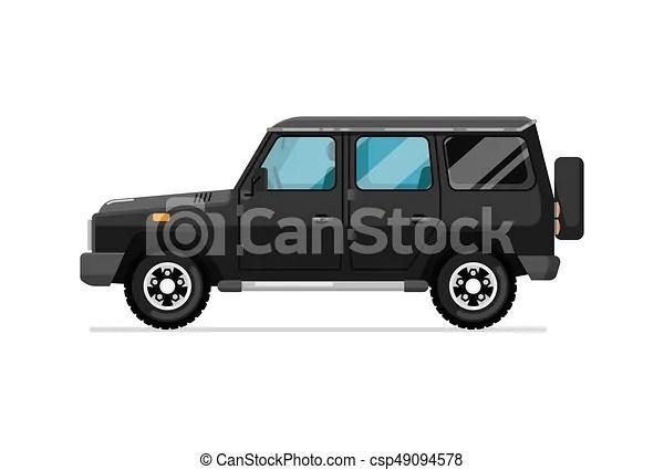 luxury jeep isolated vector