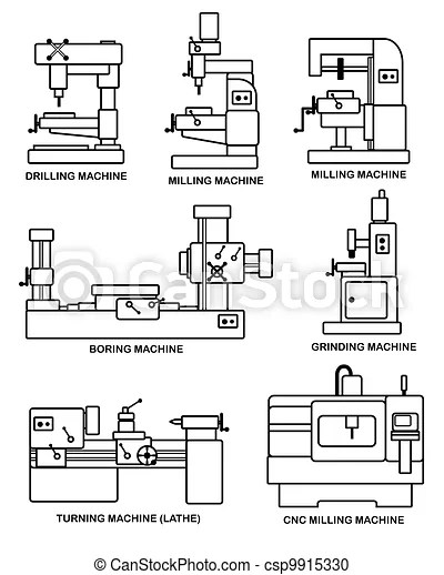 Cnc Milling Machine Drawing