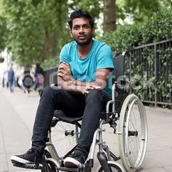 Wheelchair Man Bean Bag Chair Filler Kmart In A Young Disabled Indian Sitting Csp31603163