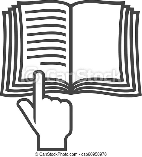 Manual book vector symbol (instruction icon)