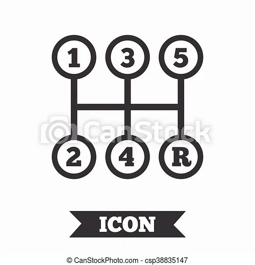 Manual transmission sign icon. mechanic control. Manual