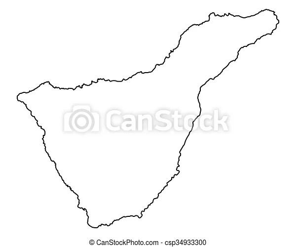 Map of tenerife.