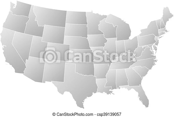 Washington, dc is the capital city of the united states. Map United States Washington D C Map Of United States With The Provinces Filled With A Linear Gradient Washington D C Canstock