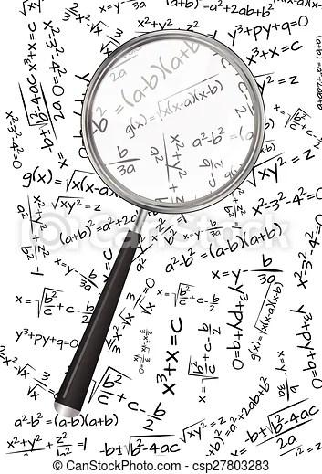 Math formula lens. Illustration of formula mathematics