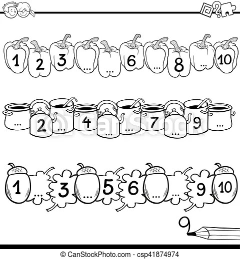 Maths educational task for coloring. Black and white