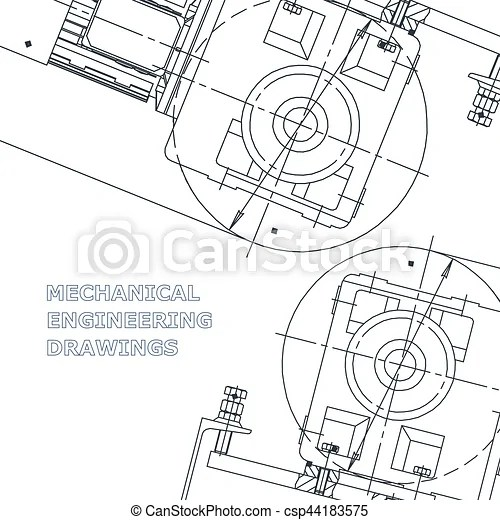 Mechanical engineering drawing. Mechanical engineering the