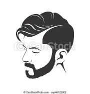 men haircut hairstyle with beard